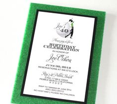 Golf Theme Custom Birthday Invitation