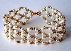 Right angle weave bracelet - finnish instructions