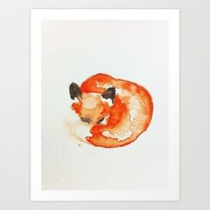 fox Art Print by Carrie Booth