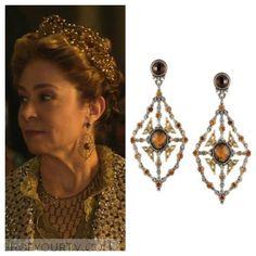 Reign: Season 3 Episode 11 Queen Catherine's Kite Chandelier Earrings