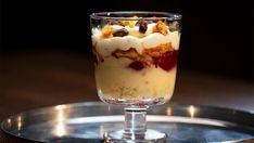 Desserts In A Glass, Trifle Desserts, Dessert Recipes, Network Ten, Masterchef Recipes, Masterchef Australia, Poached Pears, Pomegranate Juice, Honeycomb