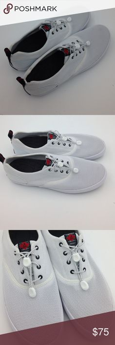 New Men's White Paul Sperry Mesh Shoes New Men's Paul Sperry White Mesh Shoes with drawstring laces. Sperry Shoes Loafers & Slip-Ons