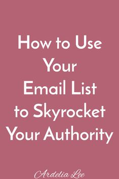 Your email list is one of your business's best assets. If you know how, you can use your email list to skyrocket your authority. It's all about strategy and how you use your email list. Check out these tips for solopreneurs and small business owners about how to build your authority through your email list. Click through to read the post.