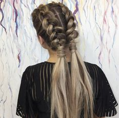 Adorable dutch braids by Jessica Marie