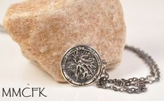 Once Upon a Time Antique Silver Evil Queen Regina Apple Tree OUAT Necklace #Handmade #Charm