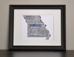 Showing some school spirit on game day. From B&A Prints on Etsy.