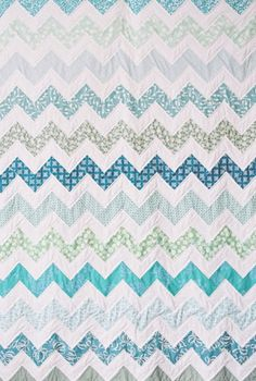 Love this chevron quilt! @Joanne Wright we should make one, or two...