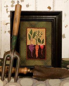 Vegetable Garden Punch Needle PATTERN TTB 308 by Patternhutch, $10.95