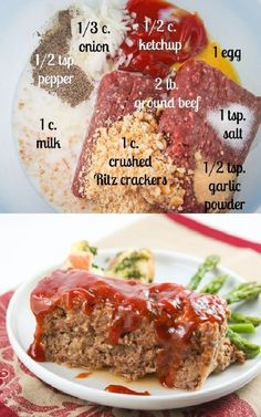 meatloaf recipes \ meatloaf recipes + meatloaf recipes easy + meatloaf recipes best + meatloaf recipes pioneer woman + meatloaf recipes easy quick + meatloaf recipes easy classic + meatloaf recipes healthy + meatloaf recipes with bread crumbs Classic Meatloaf Recipe, Good Meatloaf Recipe, Meat Loaf Recipe Easy, Best Meatloaf, Healthy Meatloaf Recipes, Hamburger Meat Recipes Easy, Gluten Free Meatloaf, Healthy Meals, Chicken Recipes