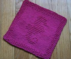 Seahorse Knit Dishcloth Pattern