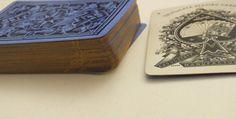 Antique Playing Cards Blue Dragon Triplicate Andrew Dougherty Gold Edges No # 52