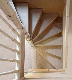 42 Inspiring Loft Stair Design Ideas For Space Saving - Loft conversion stairs are an integral part of any conversion project so in this article we'll look at some of the specific building regulations regar. Space Saving Staircase, Small Staircase, Loft Staircase, Basement Stairs, House Stairs, Staircase Design, Stair Design, Spiral Staircases, Spiral Stairs Design