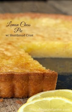 This is our favorite dessert! (at least currently) Everyone who tries it seems to go crazy when they take the first bite! Lemon Chess Tart w/ Shortbread Crust