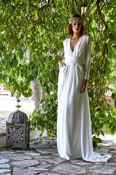 21 Best Of Greek Wedding Dresses For Glamorous Bride greekwedding dresses a line pluning neckline with sleevs simple matildecano Greek Wedding Dresses, Bohemian Wedding Dresses, Elegant Wedding Dress, Wedding Dresses Plus Size, Wedding Dress Styles, Designer Wedding Dresses, Boho Dress, Bridal Dresses, Dress Wedding