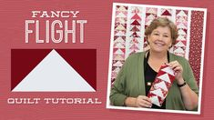 """Make a """"Fancy Flight"""" Quilt with Jenny Doan of Missouri Star (Video Tuto. - Travel tips - Travel tour - travel ideas Jenny Doan Tutorials, Msqc Tutorials, Quilting Tutorials, Quilting Classes, Quilting Tips, Machine Quilting, Quilting Projects, Missouri Star Quilt Tutorials, Flying Geese Quilt"""