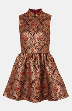 So pretty. Topshop Jacquard Skater Dress available at #Nordstrom
