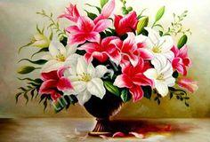 Лилии в бронзовой вазе