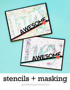 Video: More Stencils + Masking + GIVEAWAY | Jennifer McGuire Ink