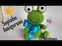 Sapinho Amigurumi - YouTube Crochet Dolls, Crochet Baby, Pet Toys, Baby Toys, Crochet Hooded Scarf, Sewing Toys, Amigurumi Toys, Easy Crochet Patterns, Textile Art