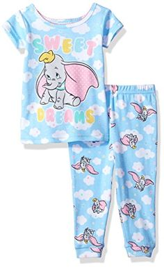 9b5ba9d3a Amazon.com Dumbo Disney 2-Piece Pajama Set toddler elephant sweet dreams pajamas  pjs