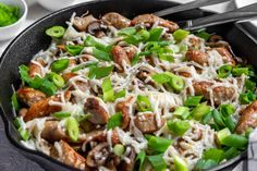 Keto Mushroom Sausage Skillet   Ruled Me Veggie Sausage, Sausage Recipes, Keto Mushrooms, Stuffed Mushrooms, Sausage Breakfast, Breakfast Recipes, Breakfast Skillet, Dessert Recipes, Clean Recipes