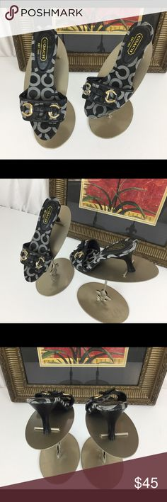 """Coach Mule Shoes.  Sz 7 Check out these great Coach mules.  Sz 7. Heel height 3"""".  Like new.  Worn once. Coach Shoes Mules & Clogs"""
