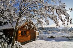 housebuiltfortwo:  43. Ski house in Ohakune, Central Plateau, New Zealand. Set next to a small stream, this cabin provides a cozy shelter to...