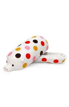 Jonathan Adler Ceramic Porcelain Pig Piglet Polka Dot Dish Butter Dish New | eBay... I think I need this :) @Lisa Phillips-Barton Phillips-Barton Hetherington-Ewing you should get it for Spencer too :)