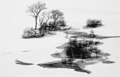 Drawing on lake Photo by Teruo Araya — National Geographic Your Shot