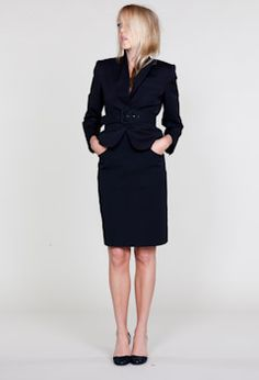 A cute suit that makes me wish I worked in an office.
