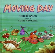 cute book about a hermit crab finding a new home - intro to lots of good words!!