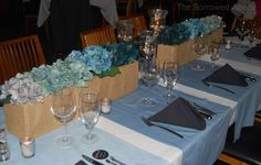 DIY: Teal Ombré Floral Arrangements & TablescapeThe Borrowed Abode: Decorating a rental home | The Borrowed Abode: Decorating a rental home