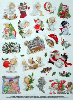 Ruth Morehead Christmas misc stickers Vintage Christmas, Christmas Holidays, Christmas Cards, Christmas Ornaments, Christmas Stickers, Christmas Printables, Christmas Scrapbook, All Holidays, Scrapbook Stickers