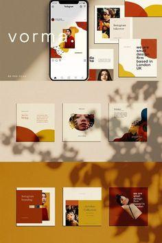 Vital Tips On Website Design Portfolio Design Layouts, Graphic Design Layouts, Graphic Design Inspiration, Layout Design, Instagram Design, Instagram Square, Instagram Feed, Instagram Posts, Social Media Template