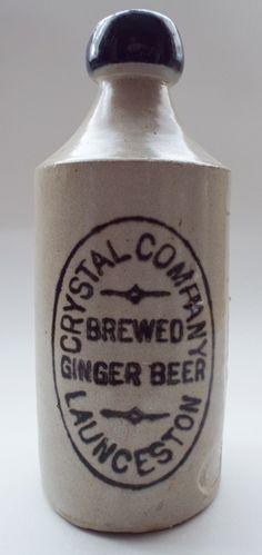 Antique Bottles 134 - July - Elsecar, Yorkshire - Summer National - Crystal Company of Launceston, Tasmania blue lipped ginger beer bottle.