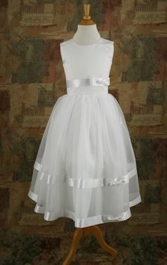 Canadian Profiles 2201 Flower Girl Dress. Delicate with pearl accents.