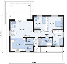 Проекция первого этажа.112 кв.м.