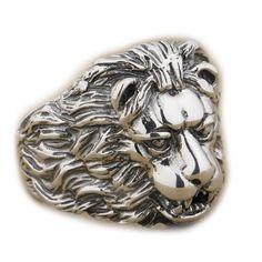 925 Sterling Silver King Of Lion Mens Biker Rocker Punk Ring 9K022 US Size 7 to 14 (9)