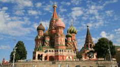 Saint Basil's Cathedral was originally built in 1555, commissioned by Ivan the Terrible. Today it is a popular museum in Moscow, Russia.
