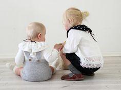 COLLAR by Ministrikk.no: Match to søskens antrekk i en fei, for eksempel når julebildene skal tas. et tydelig tilbehør som kragen setter likhetstegn over klærn...