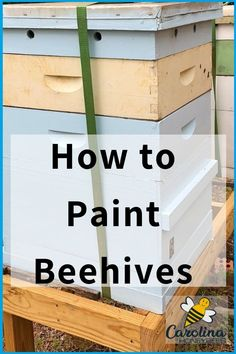 Should you paint your bee hives? Painting a hive does not have to be a lot of work, it protects the wood and it may even find it to be fun! Get creative with your beehive painting. Learn more. Bee Hives Boxes, Bee Boxes, Bee Hive Plans, Honey Bee Hives, Honey Bees, Beekeeping For Beginners, Bee Supplies, Raising Bees, Bee Farm