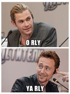 Tom says I'm more popular then you Chris says o really and Tom says ya rly