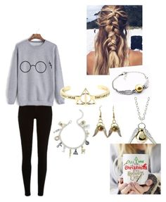"""HP done!"" by jensunicorn on Polyvore featuring Quiksilver, Warner Bros. and Torrid"
