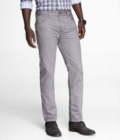 gray jeans <3  ROCCO COLORED SLIM FIT SKINNY LEG JEAN - GRAY at Express