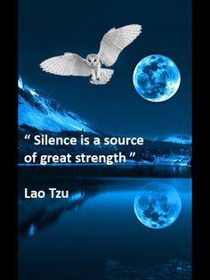 Lao Tzu. Wisdom. Silence