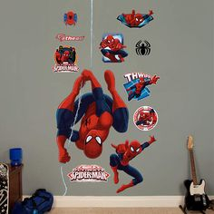 Spiderman Wall Decor decorating boys bedroom spiderman style | jp's bedroom | pinterest