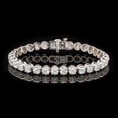 Diamond Tennis Bracelet | From a unique collection of vintage tennis bracelets at http://www.1stdibs.com/jewelry/bracelets/tennis-bracelets/