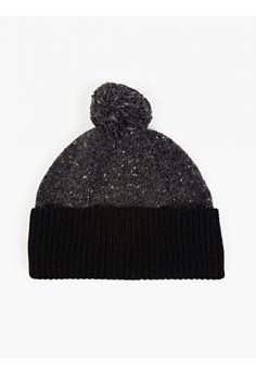 Paul Smith Grey Wool Bobble Hat