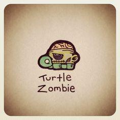 Turtle Zombie #turtleadayjune - @turtlewayne- #webstagram