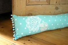 Lace Trim Door Draft Stopper I Easy-To-Sew Door Draft Stopper Ideas to Reduce Your Heating Bill Door Draught Stopper, Draft Stopper, Door Stopper, Window Draft, Door Draft, Draught Excluder Diy, Draft Excluder, Draught Excluders, Make A Door